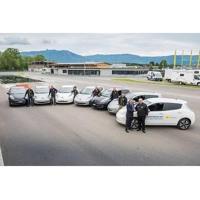 Sieben neue Nissan Leaf für TCS Training & Events