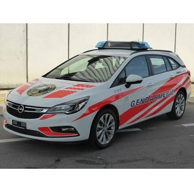 Erster Opel Astra ST als Polizeifahrzeug im Einsatz