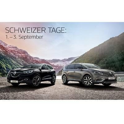 Schweizer Tage vom 1. bis 3. September bei Renault