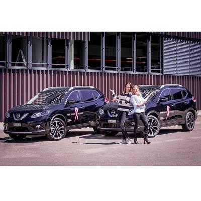 Zwei neue Nissan X-Trail bringen den Schweizer «Pink Ribbon» ins Rollen