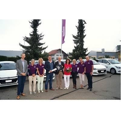 Sechs Hyundai i20 für die Betreuungsprofis