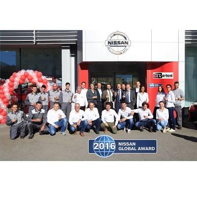 Nissan Global Award 2016 für Bertoni Automobili SA in Ascona
