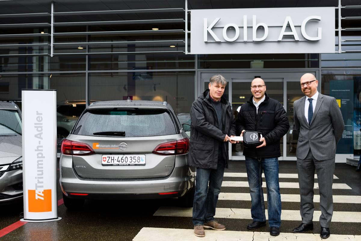 TA Triumph-Adler Schweiz AG setzt auf den Opel Astra Sports Tourer