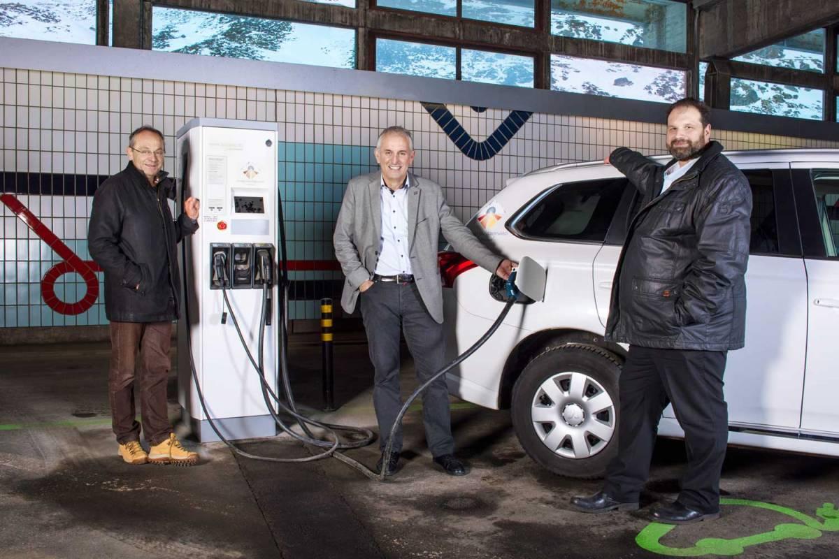 Europas höchstgelegene Schnelladestation für Elektrofahrzeuge