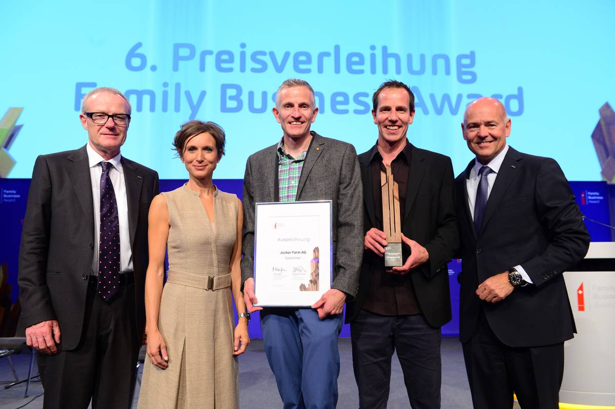 Die Jucker Farm gewinnt den Amag Family Business Award
