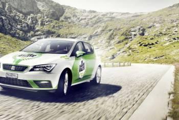 Seat ist als Fahrzeug-Sponsor Teil der Erdgas/Biogas-Rallye