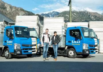 Luzi Gerüste AG setzt auf vier neue FUSO Canter